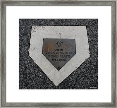 Shea Stadium Home Plate Framed Print