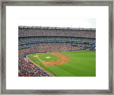 Shea Stadium Framed Print by Georgia Fowler