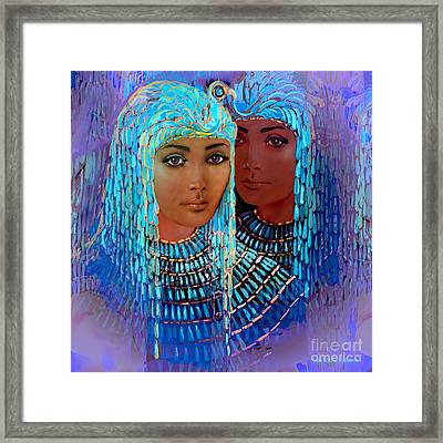 Sheba's Daughters Framed Print