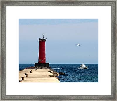 Sheboygan Breakwater Lighthouse Framed Print