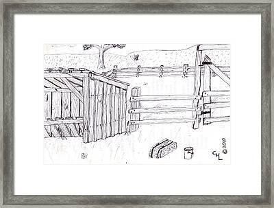Shed 1 Framed Print by Clark Letellier