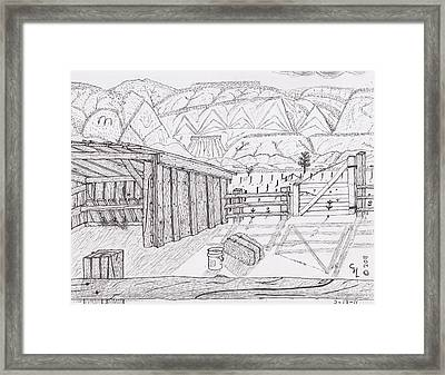 Shed 3 Framed Print by Clark Letellier