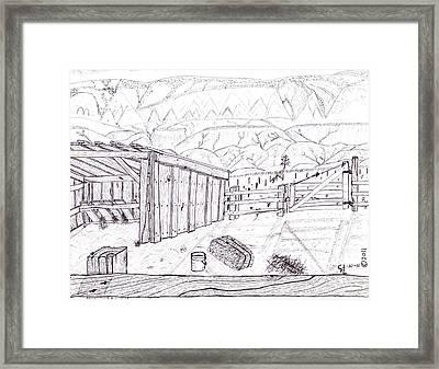 Shed 4 Framed Print by Clark Letellier