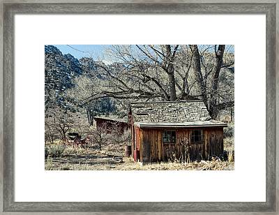 Shed And Buggy Framed Print by Kathleen Bishop