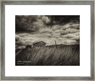 Shed And Field Framed Print