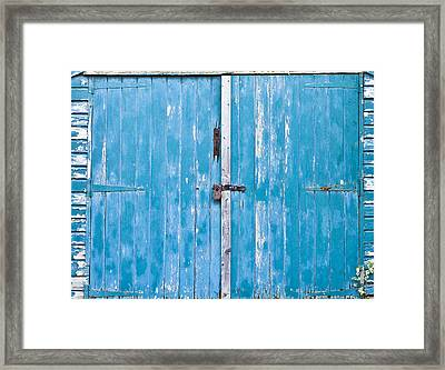 Shed Door Framed Print by Tom Gowanlock