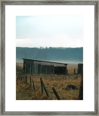 Shed In A Field Framed Print