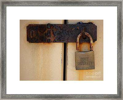Shed Lock   Framed Print by Bobby Mandal