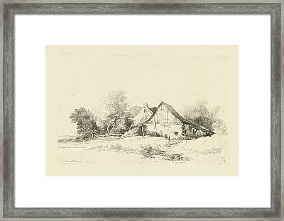 Shed On The Waterfront, Remigius Adrianus Haanen Framed Print by Remigius Adrianus Haanen
