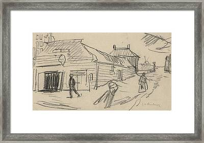Shed Under The Dike, George Hendrik Breitner Framed Print by Quint Lox