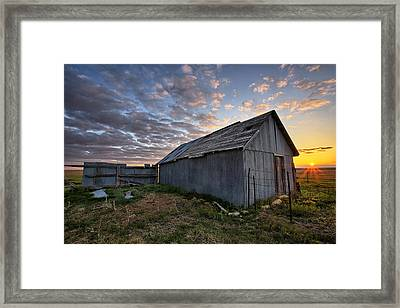Shedded Rising Framed Print