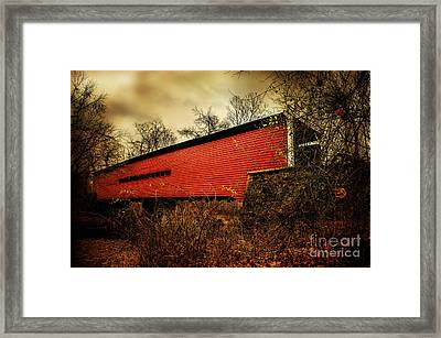 Sheeder Hall Covered Bridge 2 Framed Print