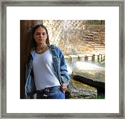Sheena In Blue Jean Jacket Framed Print by Joseph C Hinson Photography