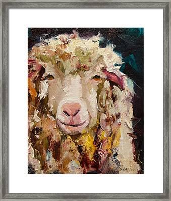 Sheep Alert Framed Print