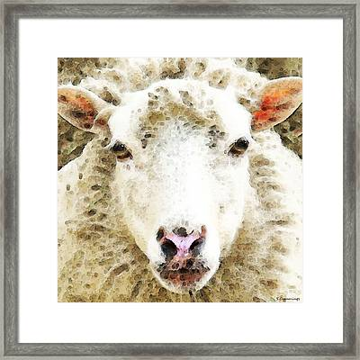 Sheep Art - White Sheep Framed Print
