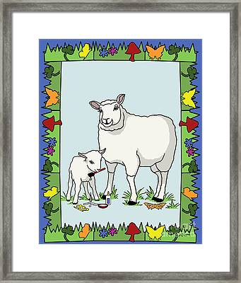Sheep Artist Sheep Art II Framed Print by Audra D Lemke