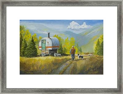Sheep Camp Framed Print by Jerry McElroy