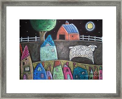 Sheep Country Framed Print