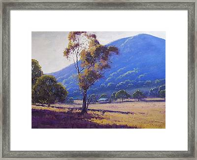 Sheep Farm Tarana Framed Print by Graham Gercken