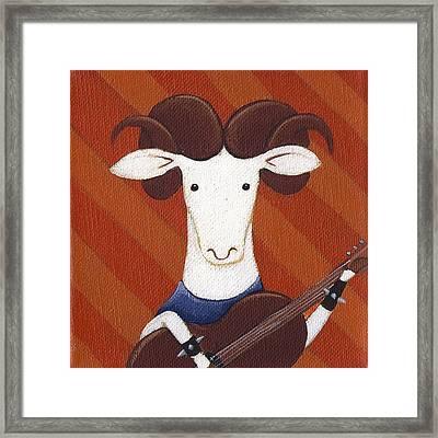 Sheep Guitar Framed Print