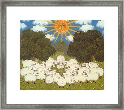Sheep  Framed Print by Ditz