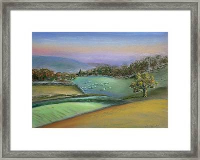 Sheep In The Dales Framed Print