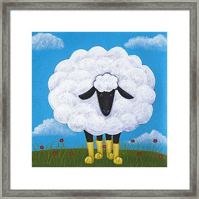 Sheep Nursery Art Framed Print by Christy Beckwith