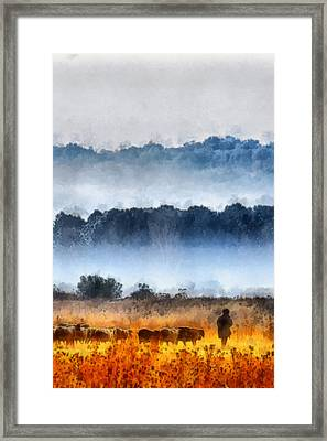Sheepman - 2 Framed Print by Okan YILMAZ