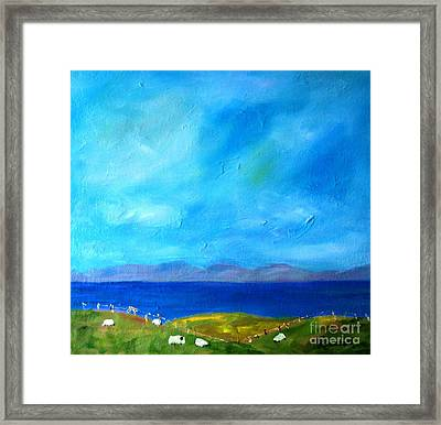 Sheep's View Framed Print