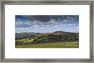 Sheepstor Sky Framed Print by Donald Davis