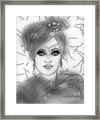 Framed Print featuring the digital art Sheer Delight by Desline Vitto