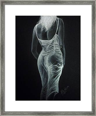 Framed Print featuring the drawing Sheer Elegance by James McAdams