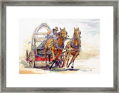 Sheer Horsepower Framed Print