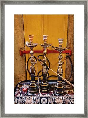 Sheesha Pipes, Jerusalem, Israel Framed Print