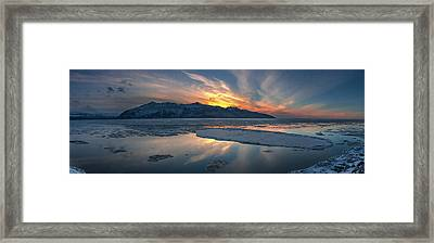 Sheets Of Ice Being Carried Framed Print by Carl Johnson