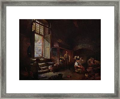 Sheffield Scythe Tilters Framed Print
