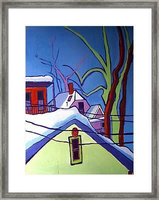 Sheffield Winter Framed Print by Debra Bretton Robinson