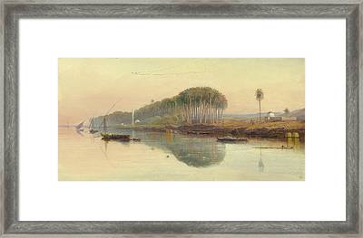 Sheik Abadeh On The Nile Framed Print by Celestial Images