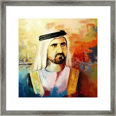 Sheikh Mohammed Bin Rashid Al Maktoum Framed Print by Corporate Art Task Force