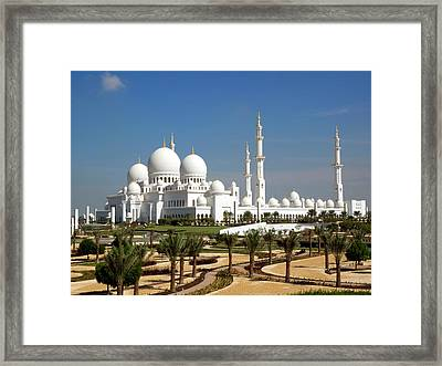 Sheikh Zayed Bin Sultan Al Nahyan Grand Framed Print