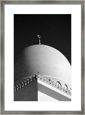 Sheikh Zayed Grand Mosque Framed Print by Myles Cummings