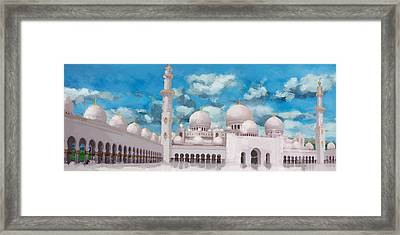 Sheikh Zayed Mosque Framed Print by Catf