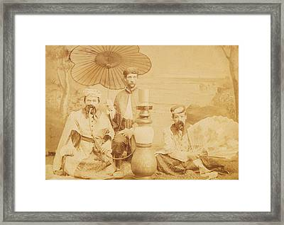 Framed Print featuring the photograph Sheiks by Paul Ashby Antique Image
