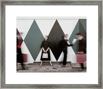 Sheila Kilgore Amid Passersby Framed Print