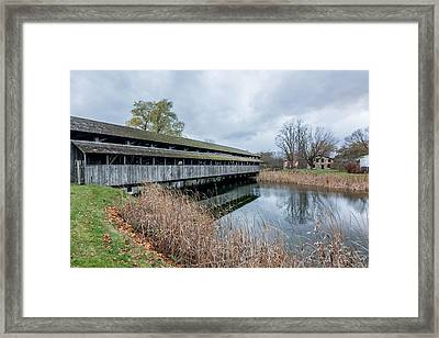 Shelburne Covered Bridge Framed Print