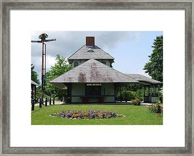 Framed Print featuring the photograph Shelburne Depot by Caroline Stella