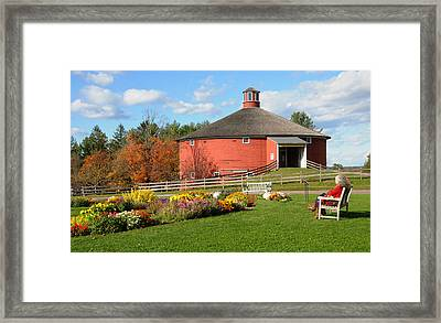 Shelburne Round Barn Framed Print by Paul Miller