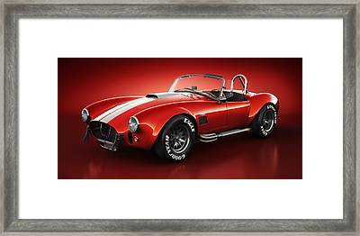 Shelby Cobra 427 - Bloodshot Framed Print by Marc Orphanos