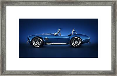 Framed Print featuring the digital art Shelby Cobra 427 - Water Snake by Marc Orphanos