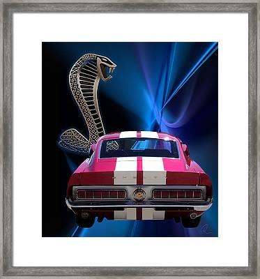 Shelby Cobra Gt-500 Framed Print by Chris Thomas